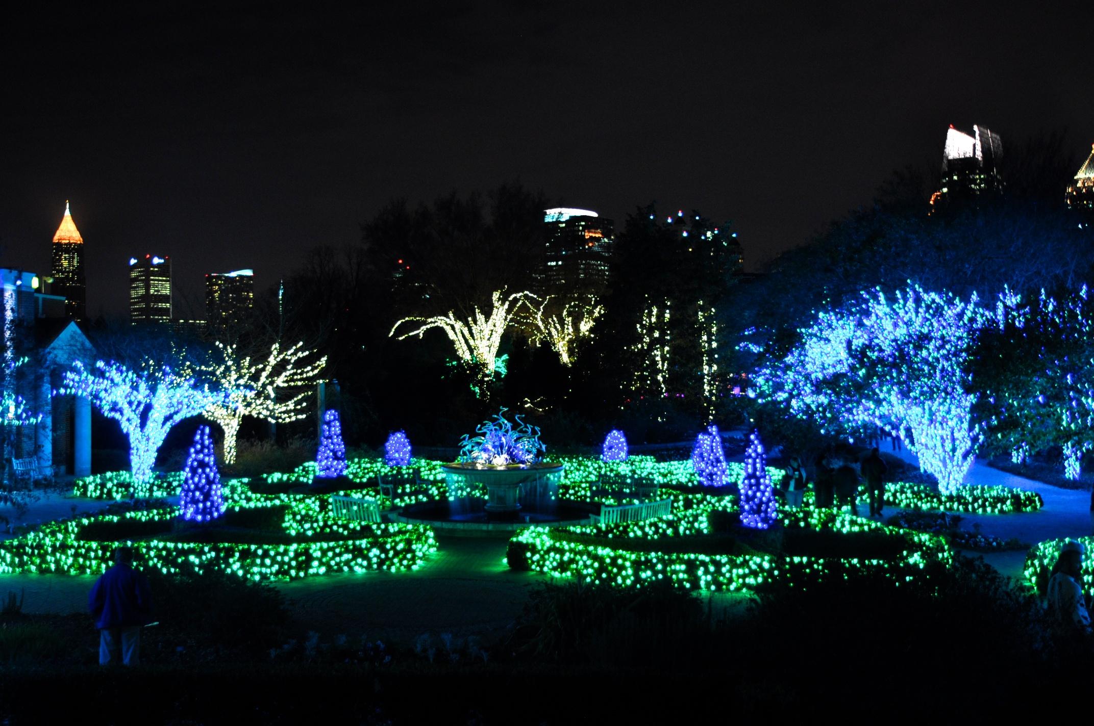 Botanical garden garden lights holiday night atlanta ga the memory for A night at the garden